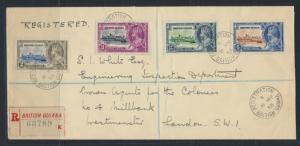 British Guiana SG 301-304 on envelope  (Sc# 223-226 see details)