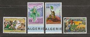 Algeria Scott catalog # 522-525 Unused Hinged