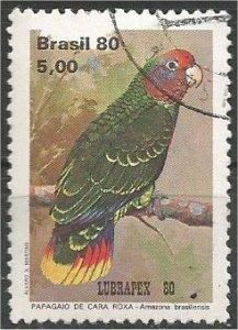 BRAZIL, 1980, used 5cr, Parrots Scott 1715