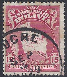 Bolivia #191 1928 Used Light Toned