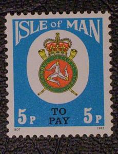 Great Britain - Isle of Man Scott #J19 mnh