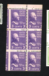 U.S. #807a MINT Misperfed Booklet F-VF NH