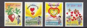 J27806 2003 philippines set mnh, #2820-3 valentines day
