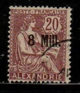 French Offices in Alexandria Scott 37a Used (Catalog Value $60.00)