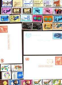 United Nations #Used collection of stamps, Mixed condition