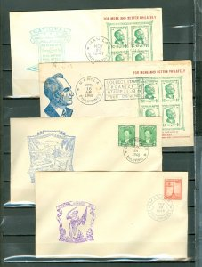 PHILIPPINES 1947-1953 LOT of 8 PRE-STAMPED HISTORIC ENVELOPES...NICE VIGNETTES