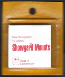 Showgard Clear Stamp Mounts T Champion of Liberty Size PreCut 40 Mounts