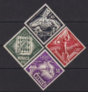 Monaco 1953 SC C36-C39 MNH