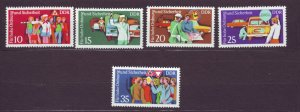 J22671 Jlstamps 1975 germany ddr set mnh #1678-82 traffic police