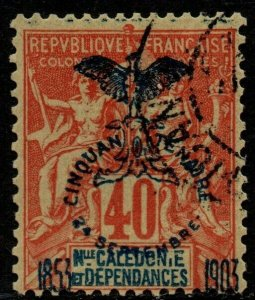 $New Caledonia Sc#77 used, F-VF, Cv. $30