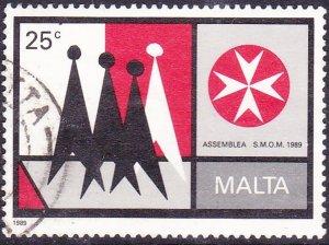 MALTA 1989 25c Multicoloured Assemblea S.M.O.M SG859 FU