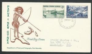 PAPUA NEW GUINEA 1963 8d & 2/3d commem FDC.................................59712
