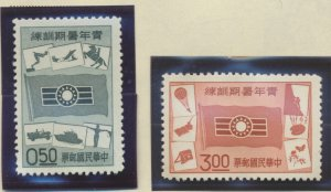 China (Republic/Taiwan) Stamps Scott #1265 To 1266, Mint Never Hinged