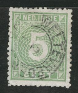 Netherlands Indies  Scott 21 Used 1887 Numeral CV$27.50