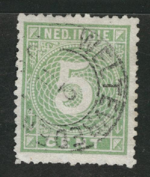 Netherlands Indies  Scott 21 Used 1887 Numeral CV$27.50