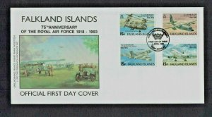 Falkland Islands:1993 75th Anniversary of the Royal Air Force,  FDC