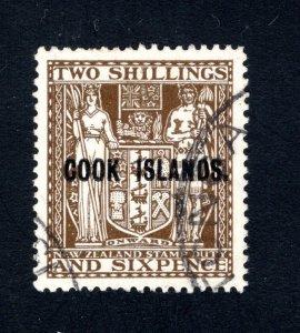 Cook Islands, Scott 124A,   VF, Used, CV $45.00  .... 1500062