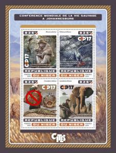 NIGER 2016 SHEET JOHANNESBURG WILDLIFE CONFERENCE nig16619a