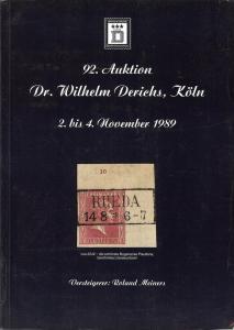 Derichs: Sale # 92  -  92. Auktion, Dr. Wilhelm Derichs, ...