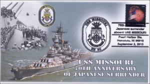 2015, USS Missouri, 70th Aniv of Japanese Surrender, Navy, 15-283