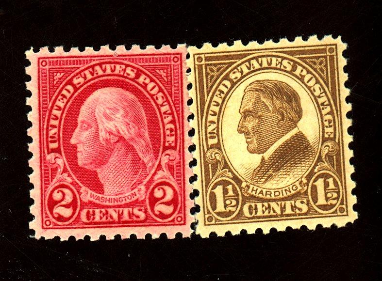 582-3 MINT F-VF OG NH Cat $19