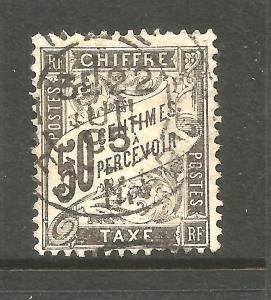 FRANCE  1881   50c  POSTAGE DUE  FU  SG D289 SIGNED