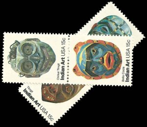 PCBstamps   US #1834-1837 SGLS 60c(4x15c)American Folk Art, 1980, MNH, (4)