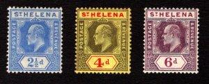 ST. HELENA  SC# 56-58  FVF/MOG
