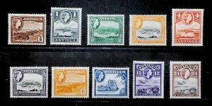British Colony Antigua 1963-65 Recess D.L.R. MH* Full Set A22P16F8713