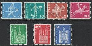 Switzerland Scott 82-90 MNH! Less 88, 89