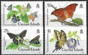 1988 Cayman Islands Butterflies, Farfalle, Papillons complete set VF/MNH! LOOK