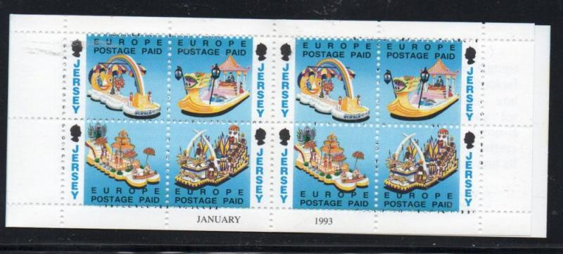 Jersey Sc 625b 1993 European rate stamp booklet mint NH