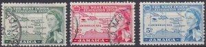 Jamaica 175-177 used (1958)