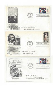 Lot 3 FDC 1964 65 Sc# 1259 1273 Fine Arts John Copley Artmaster Art Craft Cachet