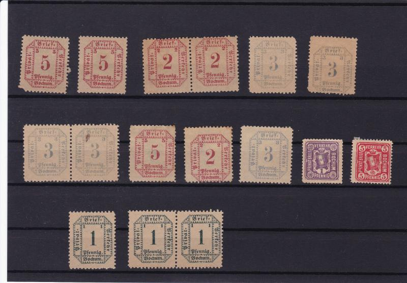 german stadt post privat post bochum  private post  stamps ref r14137