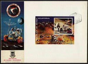 C39 Equatorial Guinea Oversized FDC 1972 Apollo 15 imperf souvenir sheet space