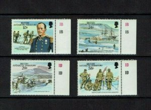 British Antarctic Territory: 1987 Captain Scott's arrival at South Pole, MNH set