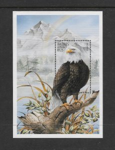 BIRDS - MALDIVES #2209  BALD EAGLE   MNH
