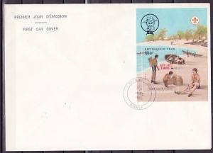 Niger, Scott cat. 673. Scout s/sheet o/p for Stamp Expo. Large First day cover.