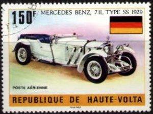 Old Car, Mercedes-Benz, 1929, Burkina Faso stamp SC#C206 used