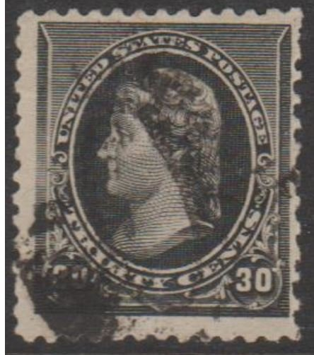 U.S. Scott #228 Jefferson Stamp - Used Single - IND