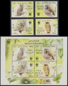 Birds WWF Native Owls 4v+MS