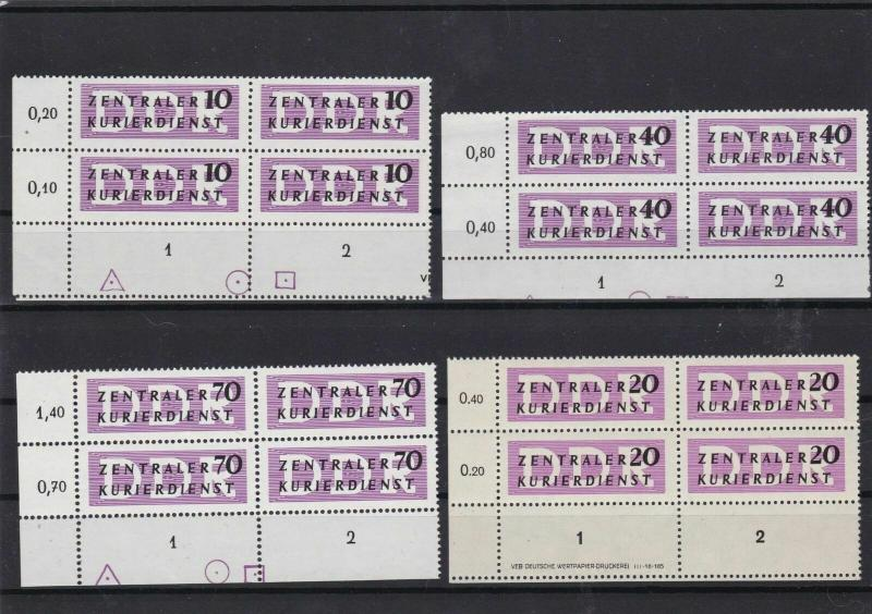 germany 1956 central courier service mnh stamps blocks ref 10816
