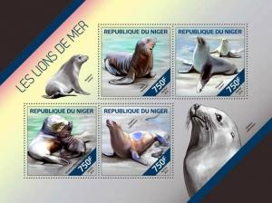 Niger MNH S/S Sea Lions 2014