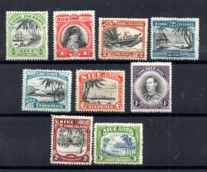 Niue 1944 KGVI mint LHM set to 3/- SG89-97 WS18468