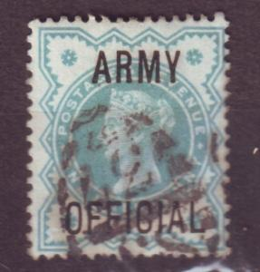J13760 JLstamps 1900 great britain used #o57 army official ovpt