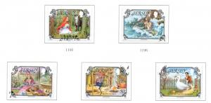 Jersey Sc 1156-60 2005 Fairy Tales stamp set Used