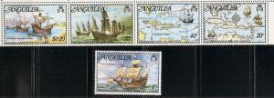Anguilla 174-8 1973 Columbus set FOLDED NH