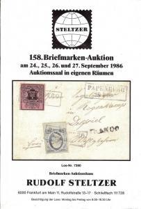Steltzer: Sale # 158  -  158. Briefmarken-Auktion, Steltz...