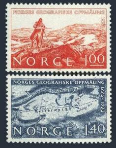 Norway 629-630,MNH.Michel 674-675. Geographical Survey of Norway-200.1973.